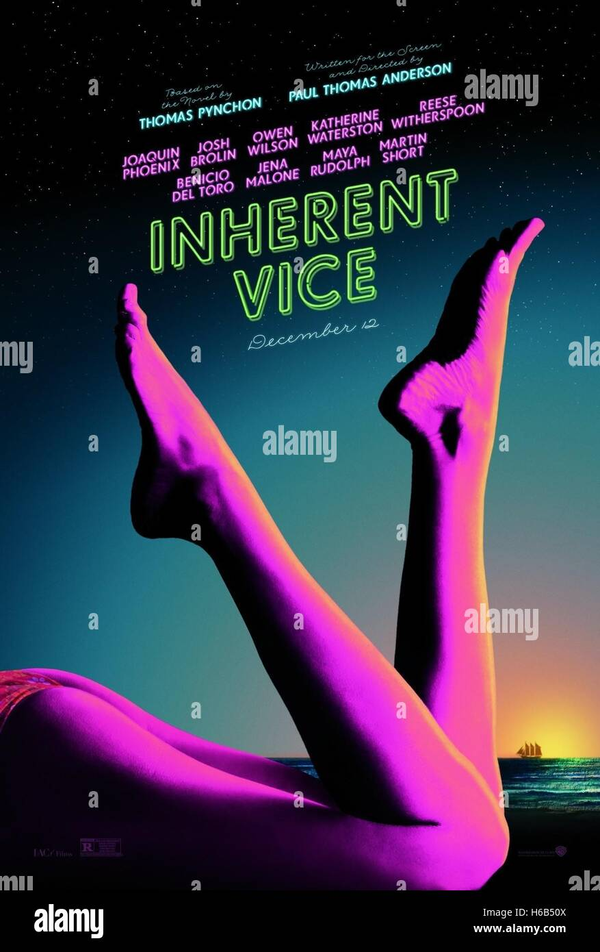MOVIE POSTER INHERENT VICE (2014) - Stock Image