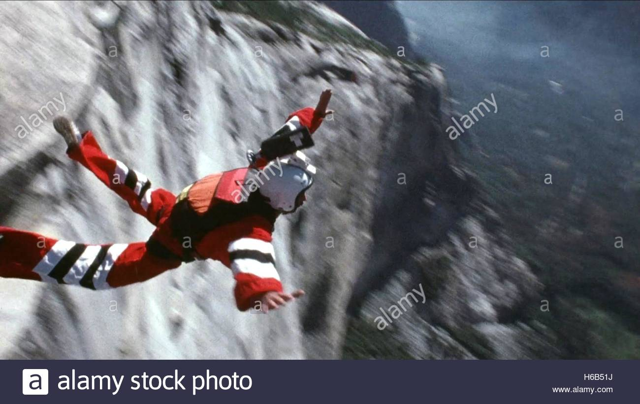 BASE JUMPER SUNSHINE SUPERMAN (2014) - Stock Image
