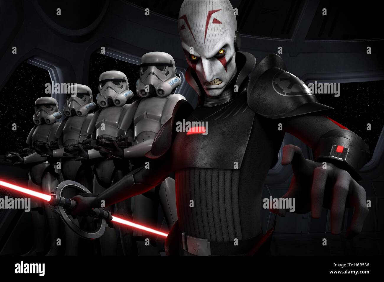 THE IMPERIAL INQUISITOR STAR WARS REBELS (2014) - Stock Image