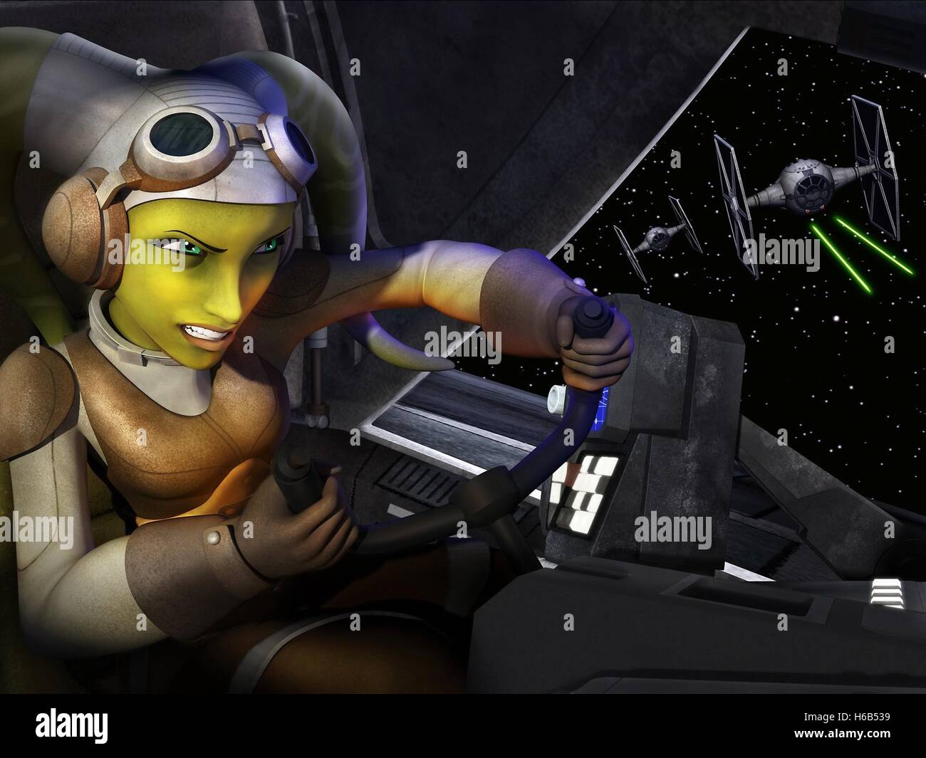 HERA SYNDULLA STAR WARS REBELS (2014) - Stock Image