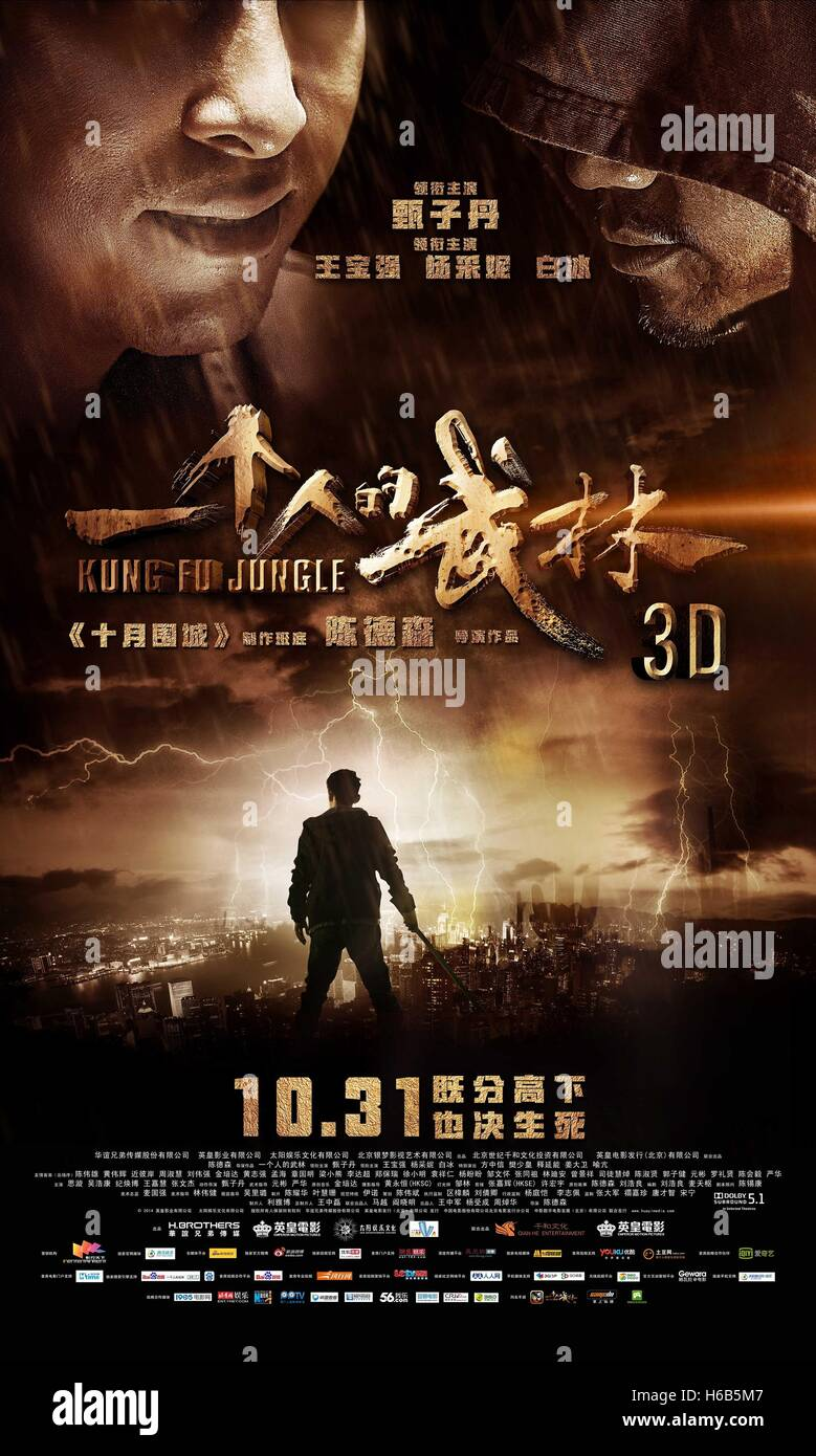 MOVIE POSTER KUNG FU JUNGLE; YAT KU CHAN DIK MOU LAM (2014) - Stock Image