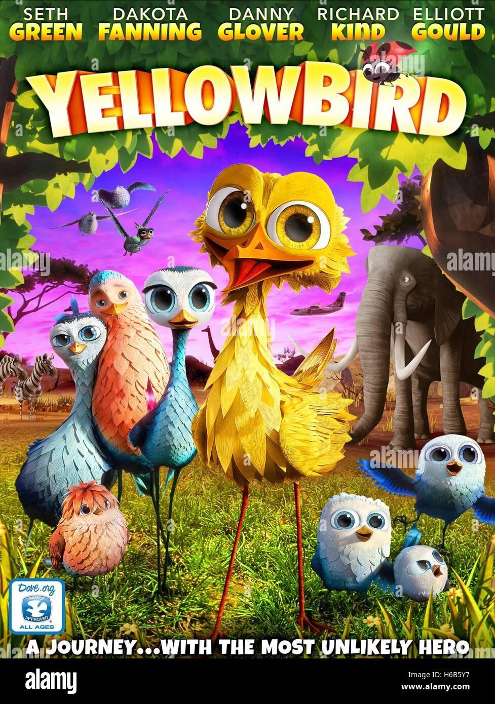 DELF YELLOWBIRD & LADYBUG POSTER YELLOWBIRD (2014) - Stock Image