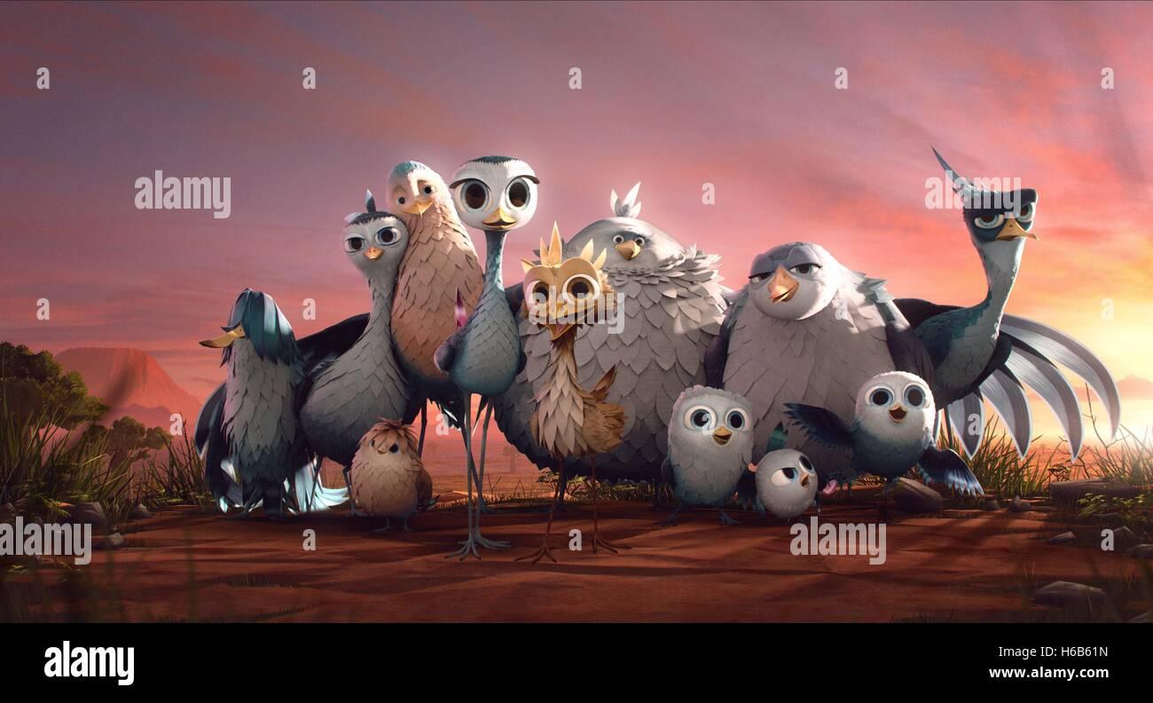 DELF YELLOWBIRD DARIUS KARL LISA ANTON & GIGI YELLOWBIRD (2014) - Stock Image