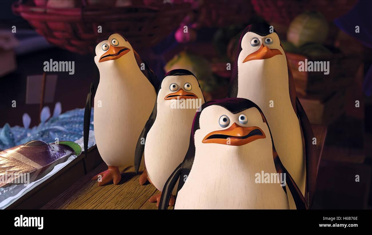 Kowalski Skipper Rico Private Penguins Of Madagascar 2014 Stock Photo Alamy