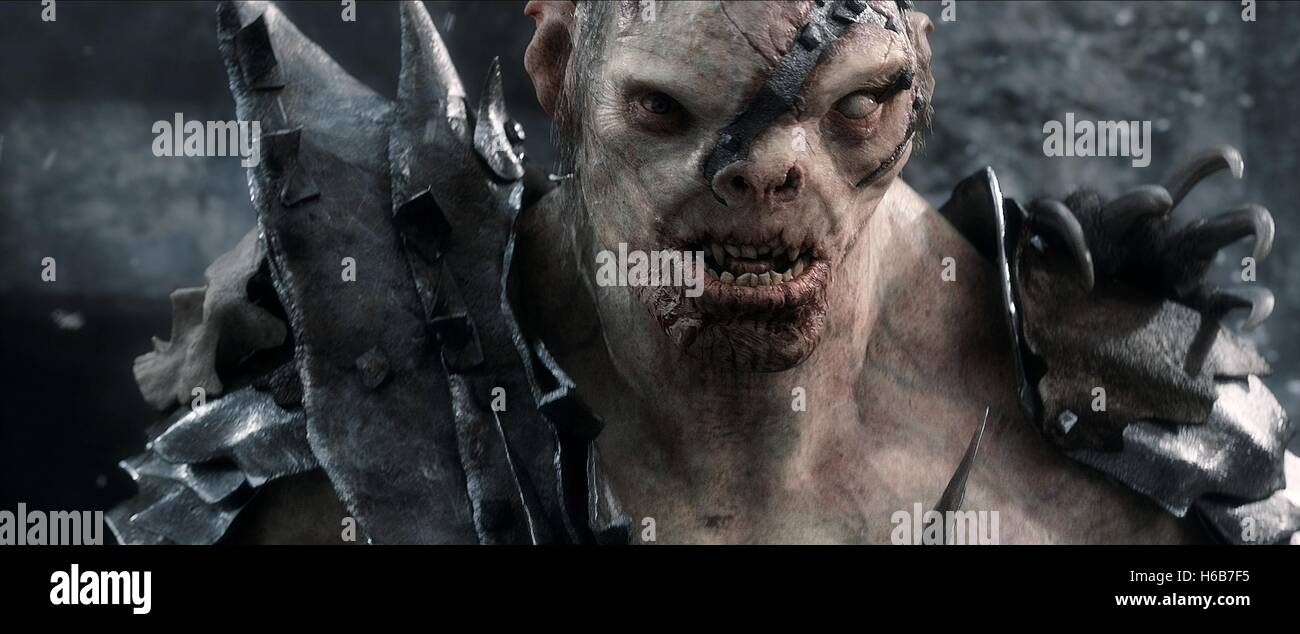 ORC THE HOBBIT: THE BATTLE OF THE FIVE ARMIES (2014) - Stock Image