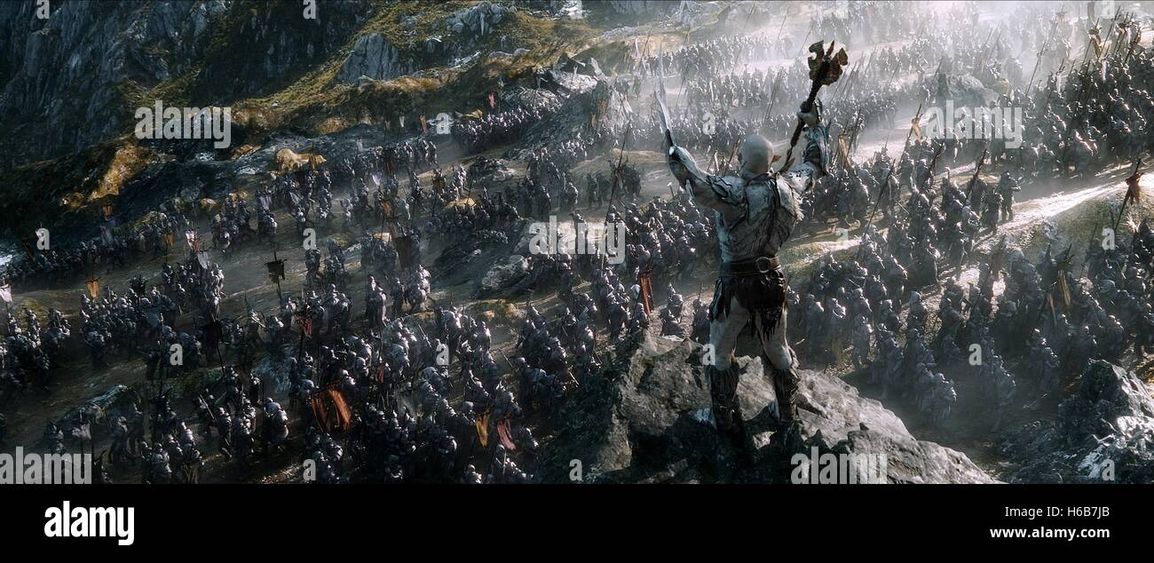 AZOG THE HOBBIT: THE BATTLE OF THE FIVE ARMIES (2014) - Stock Image