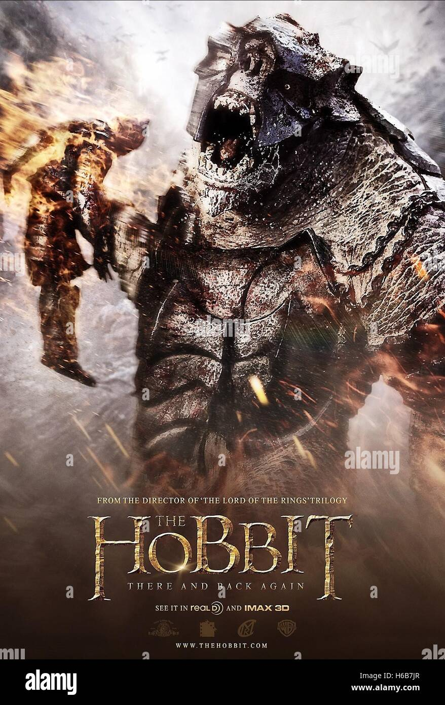 Movie Poster The Hobbit The Battle Of The Five Armies 2014 Stock Photo Alamy