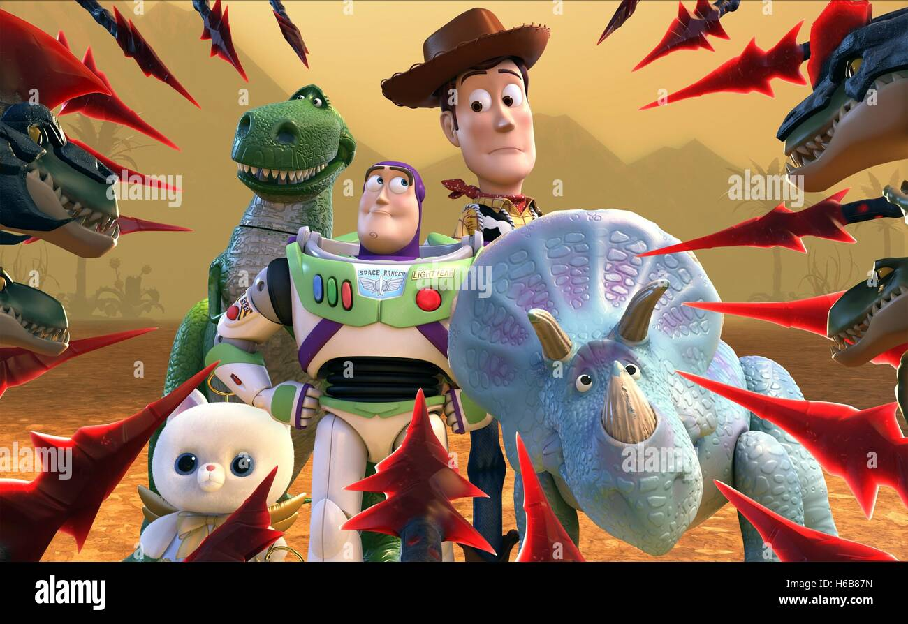 REX BUZZ LIGHTYEAR WOODY & TRIXIE TOY STORY THAT TIME FORGOT (2014) - Stock Image