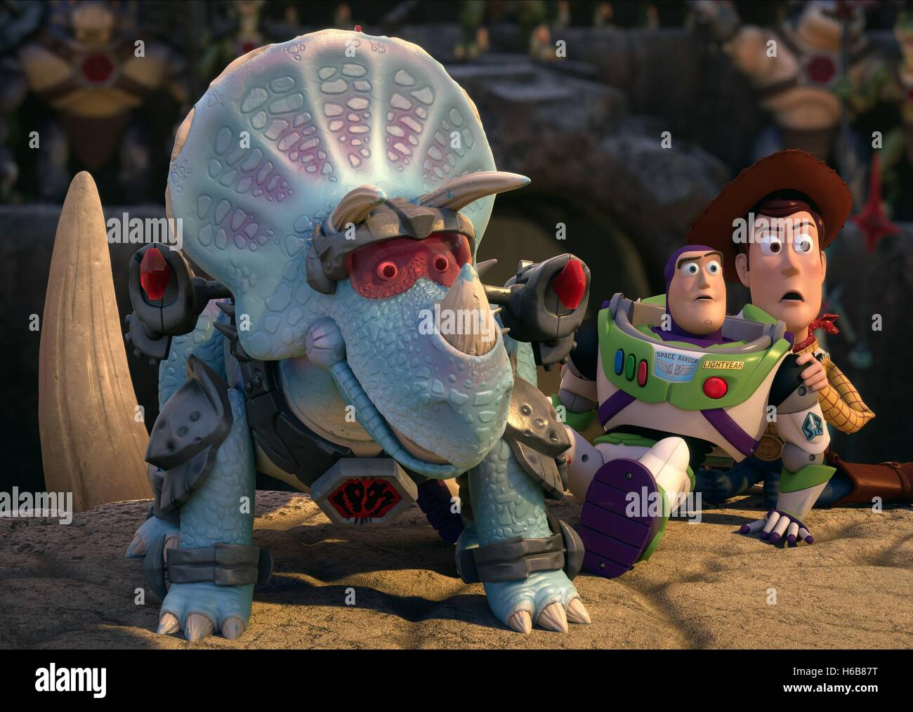 TRIXIE BUZZ LIGHTYEAR & WOODY TOY STORY THAT TIME FORGOT (2014) - Stock Image