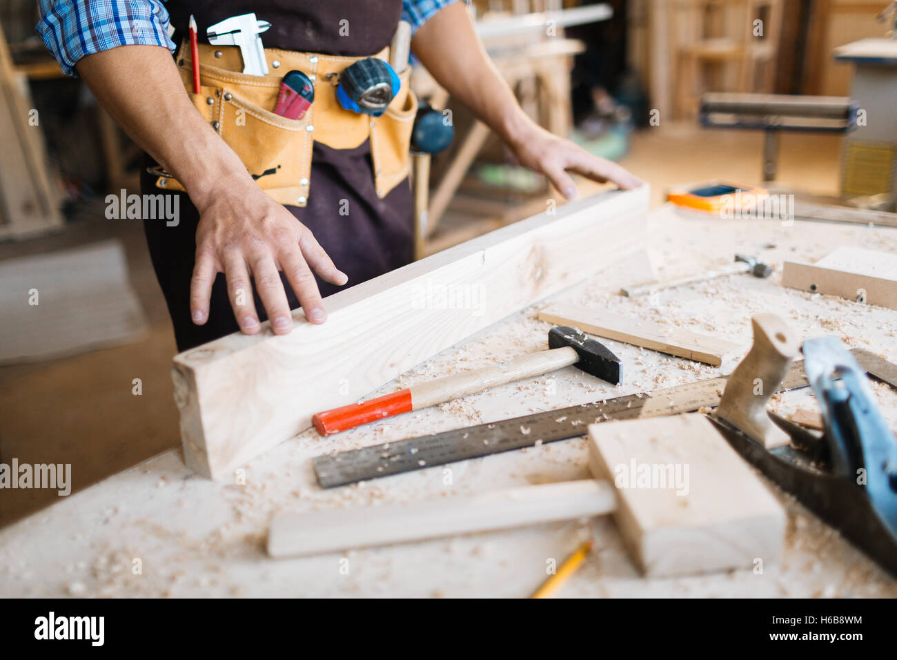 Woodwork service - Stock Image