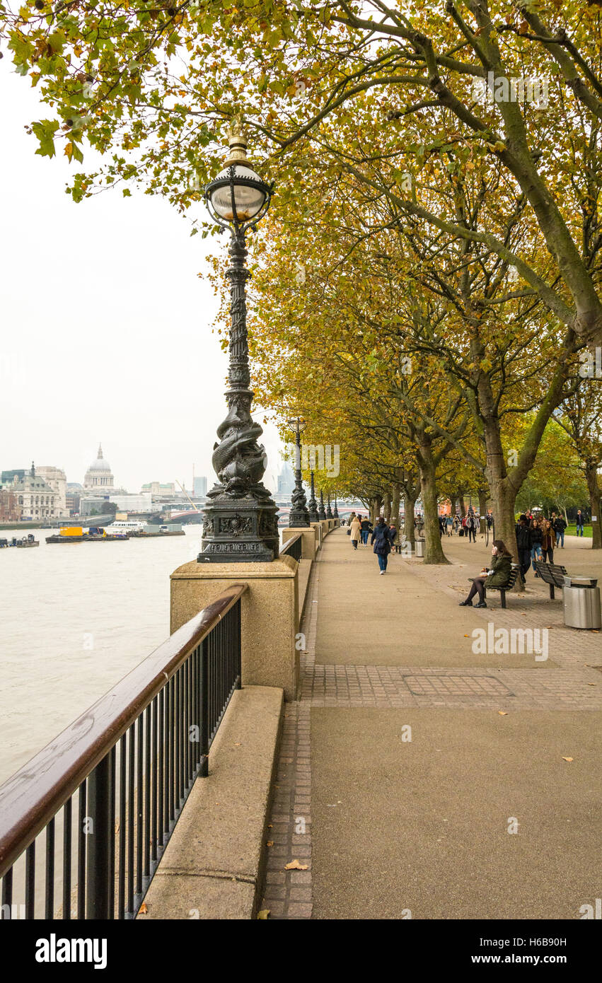 Proposed site of Thomas Heatherwick's controversial Garden Bridge on London's Southbank. - Stock Image