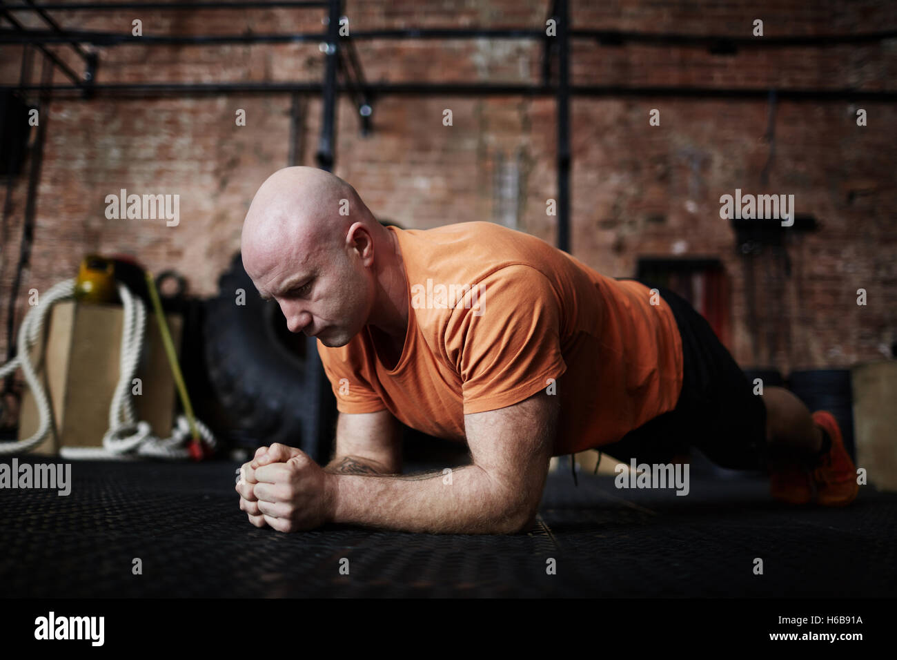 Pushing up - Stock Image