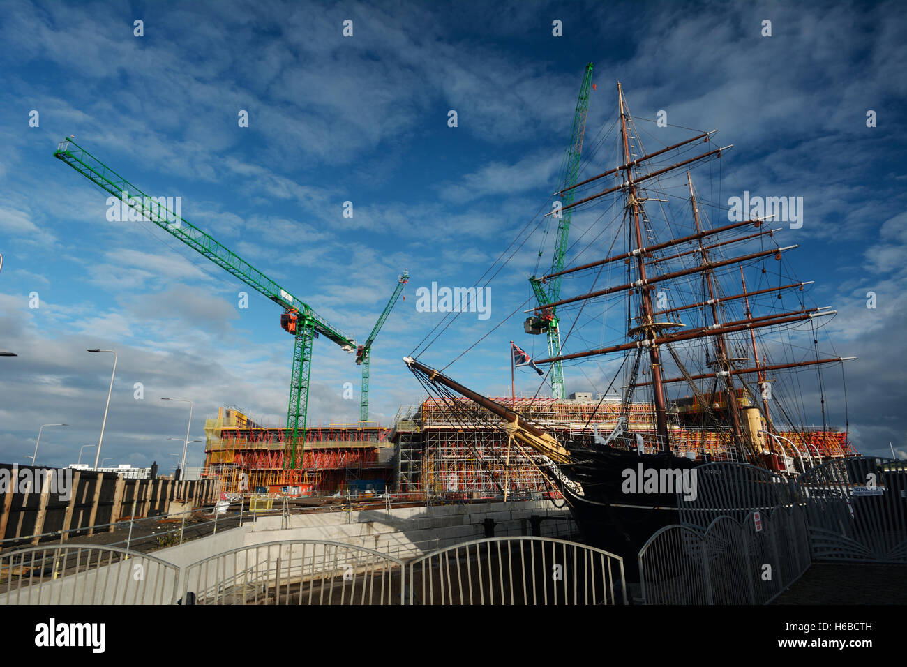United Kingdom, Scotland, Dundee, the RRS Discovery ship,  Discovery Point museum, exterior - Stock Image