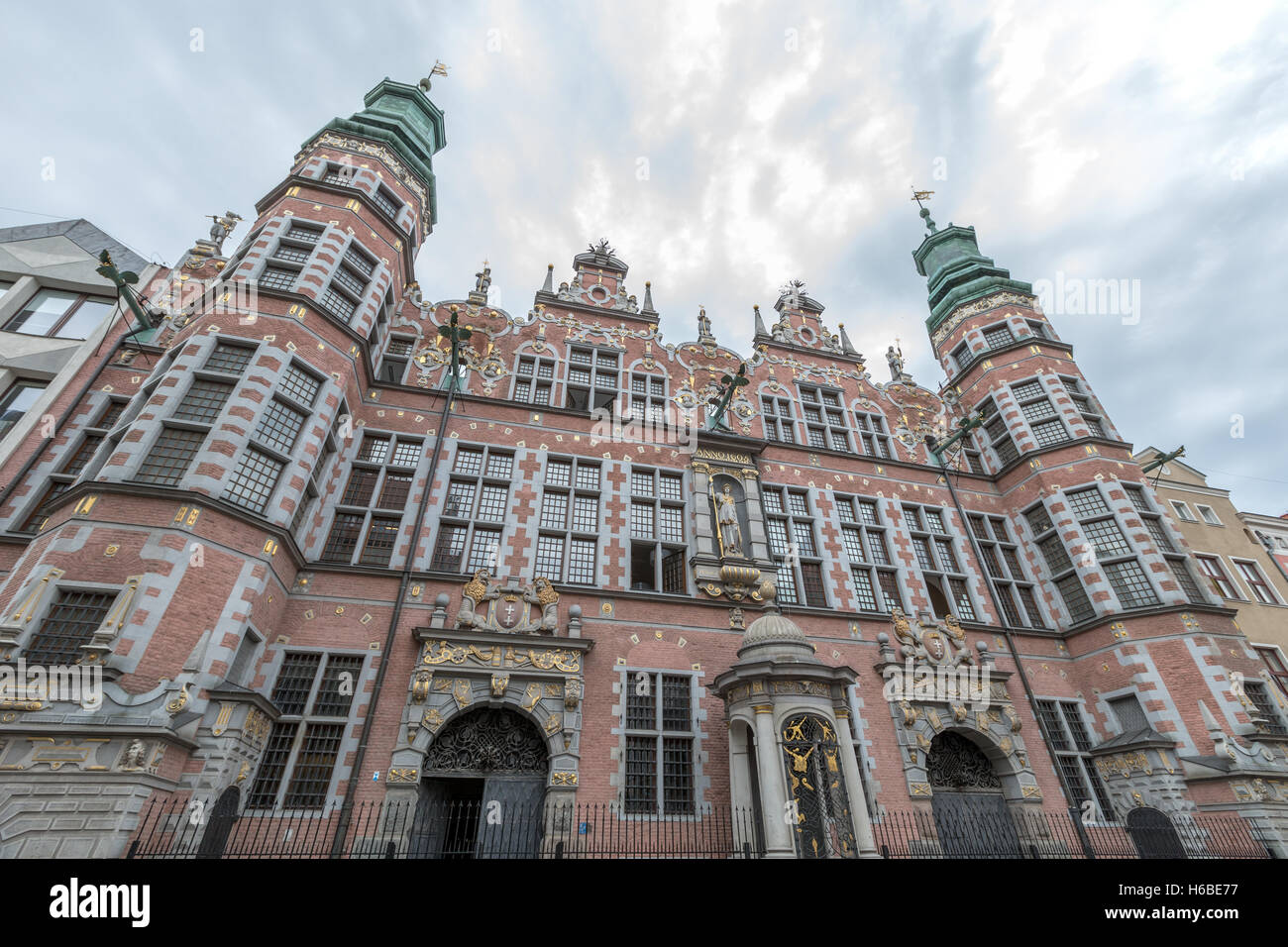 The Armoury Gdansk Poland. Dutch Renaissance architecture - Stock Image