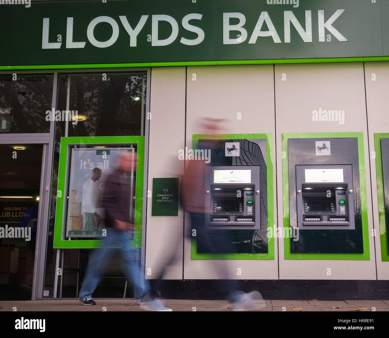 A general view of Lloyds Bank in Commercial Road, Portsmouth - Stock Image