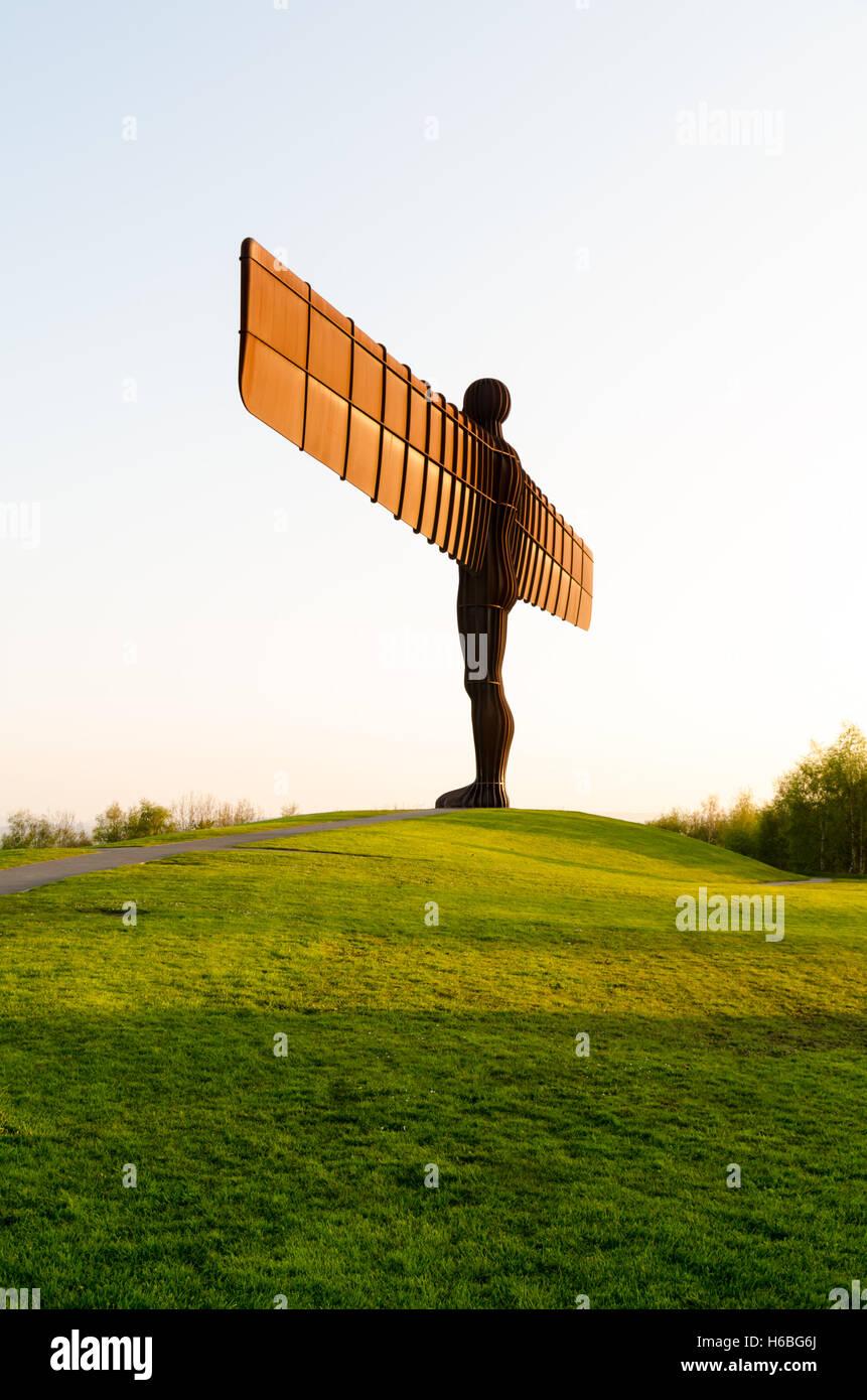 The Angel of the North, Gateshead, England - Stock Image
