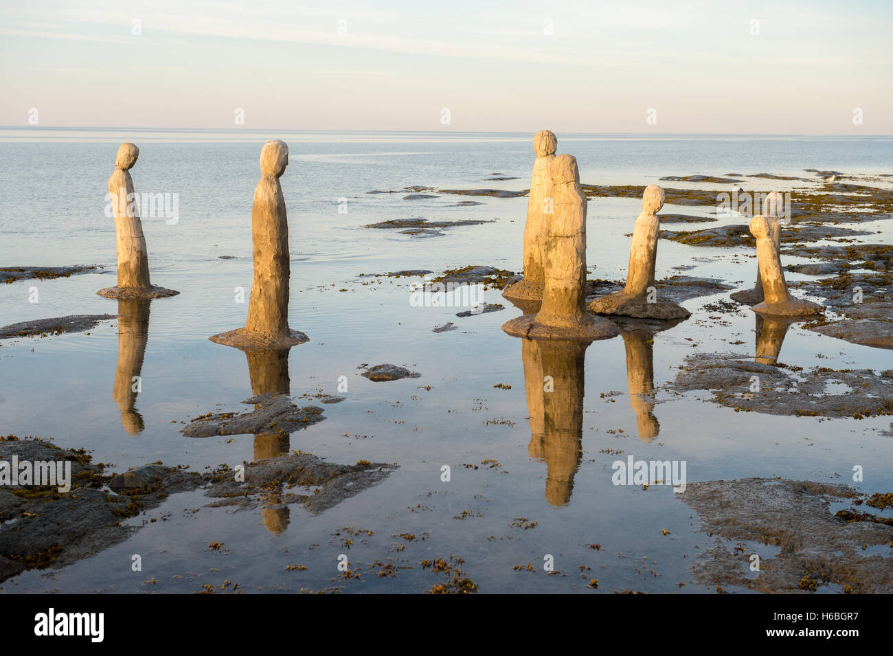 The Great Gathering by Marcel Gagnon in Sainte-Flavie, Quebec, Canada - Stock Image