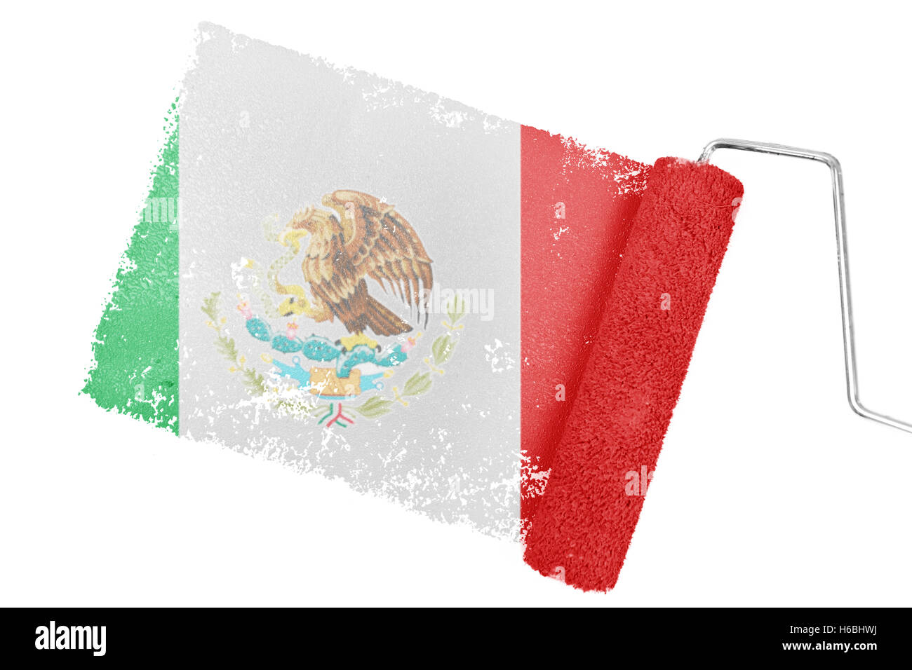 Composite image of mexico national flag - Stock Image