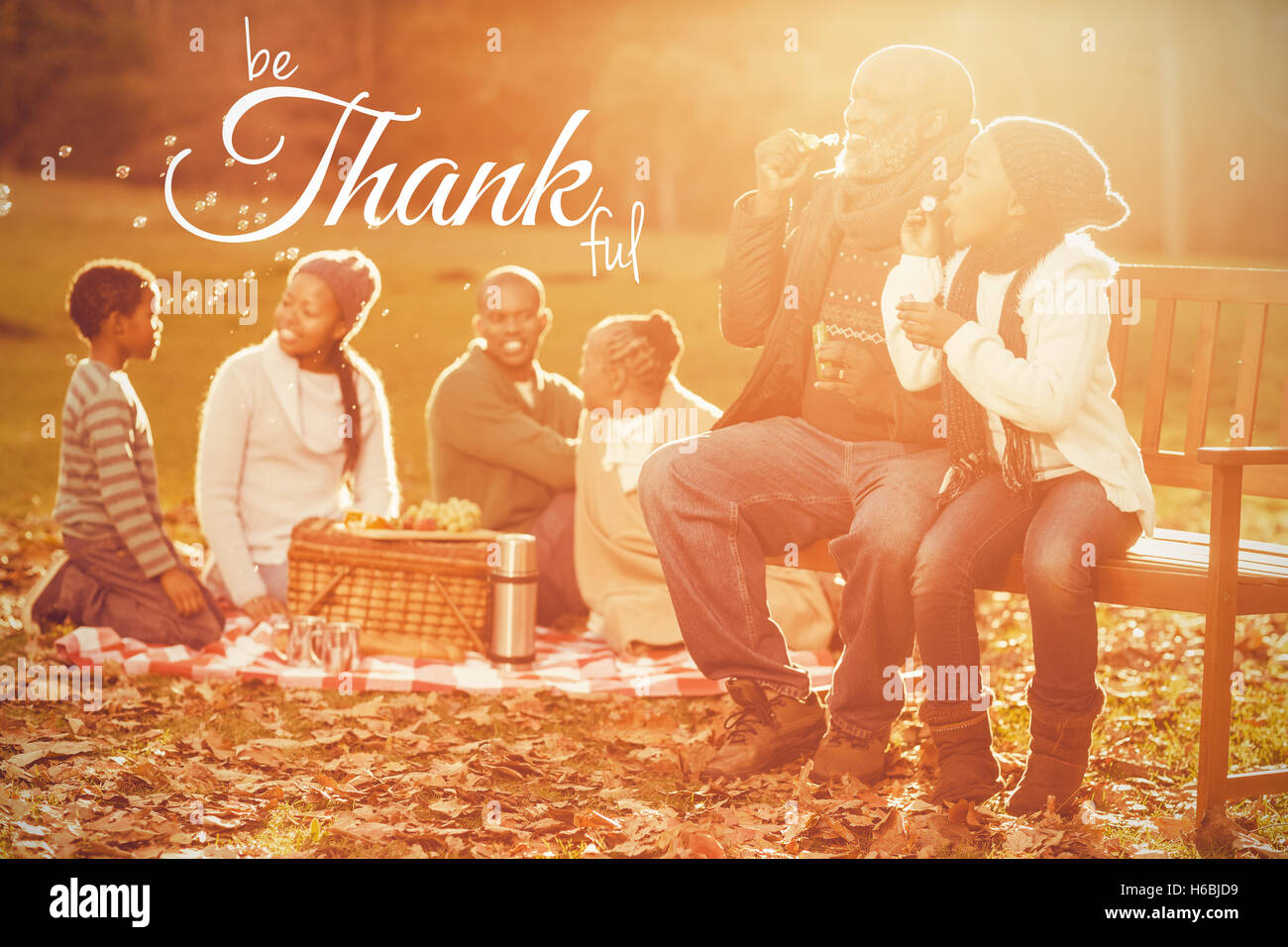 Composite image of digital image of happy thanksgiving day text greeting - Stock Image