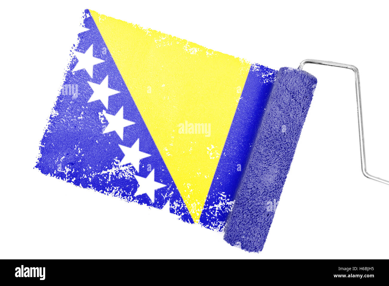 Composite image of bosnia national flag - Stock Image