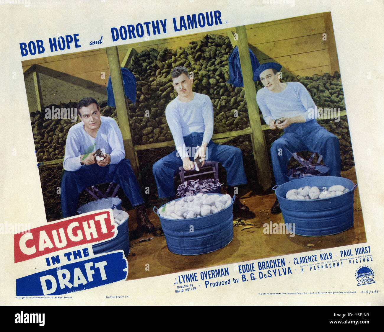 the Caught in Draft  - Movie Poster - - Stock Image