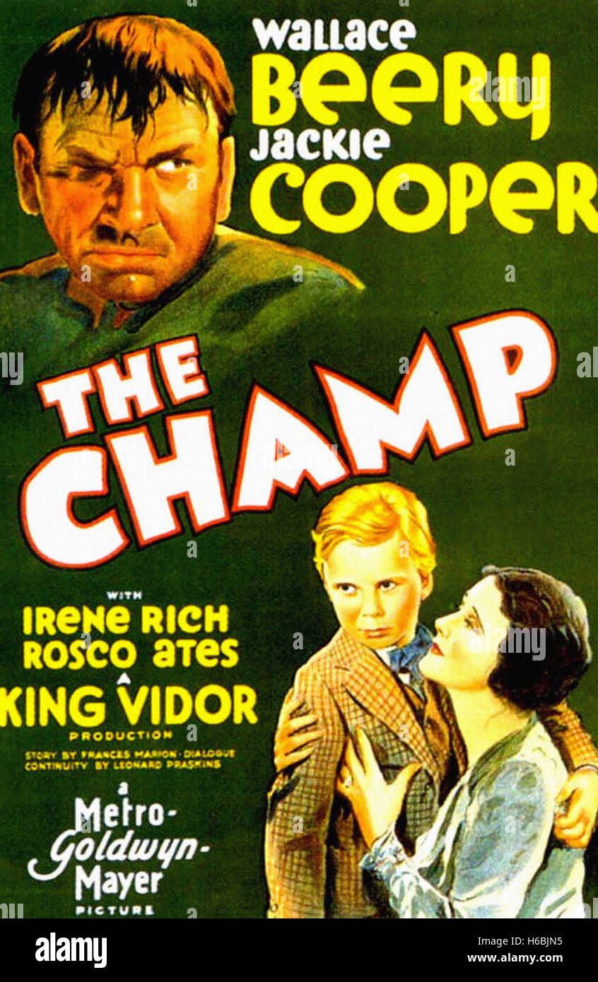 The Champ,(1931)  - Movie Poster - - Stock Image