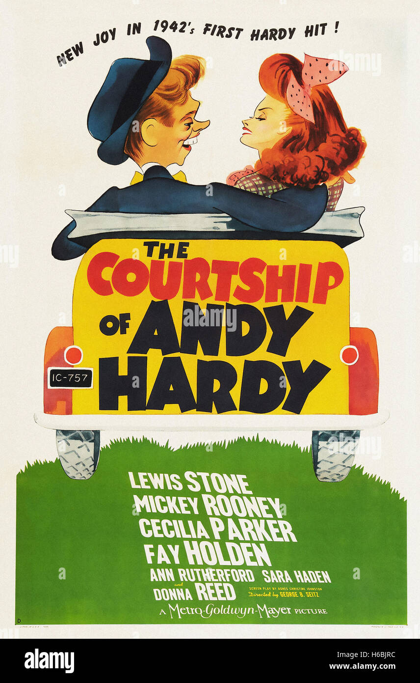 The Courtship of Andy Hardy  - Movie Poster - - Stock Image