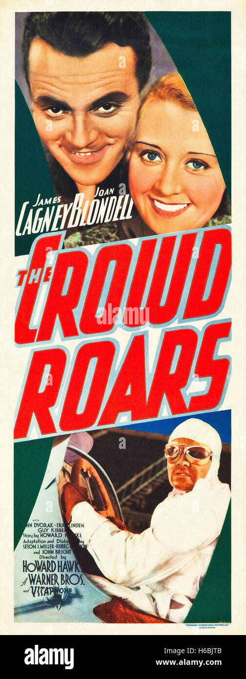 The Crowd Roars,(1932)  - Movie Poster - - Stock Image