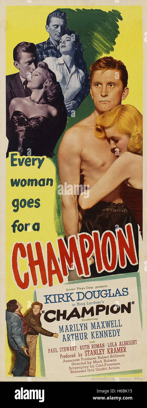 Champion (1949)  - Movie Poster - - Stock Image