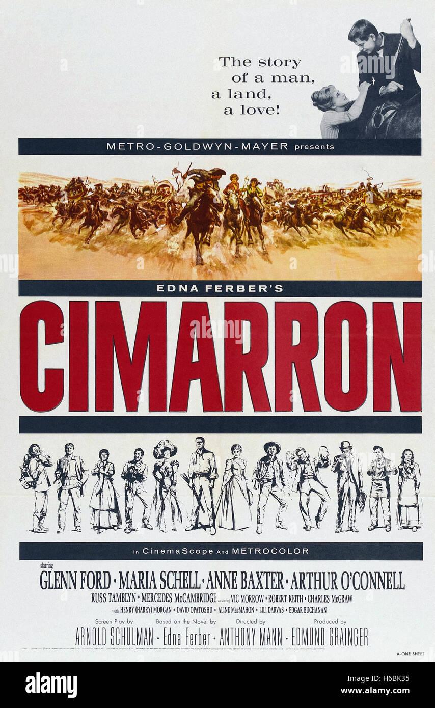 Cimarron (1960)  - Movie Poster - - Stock Image