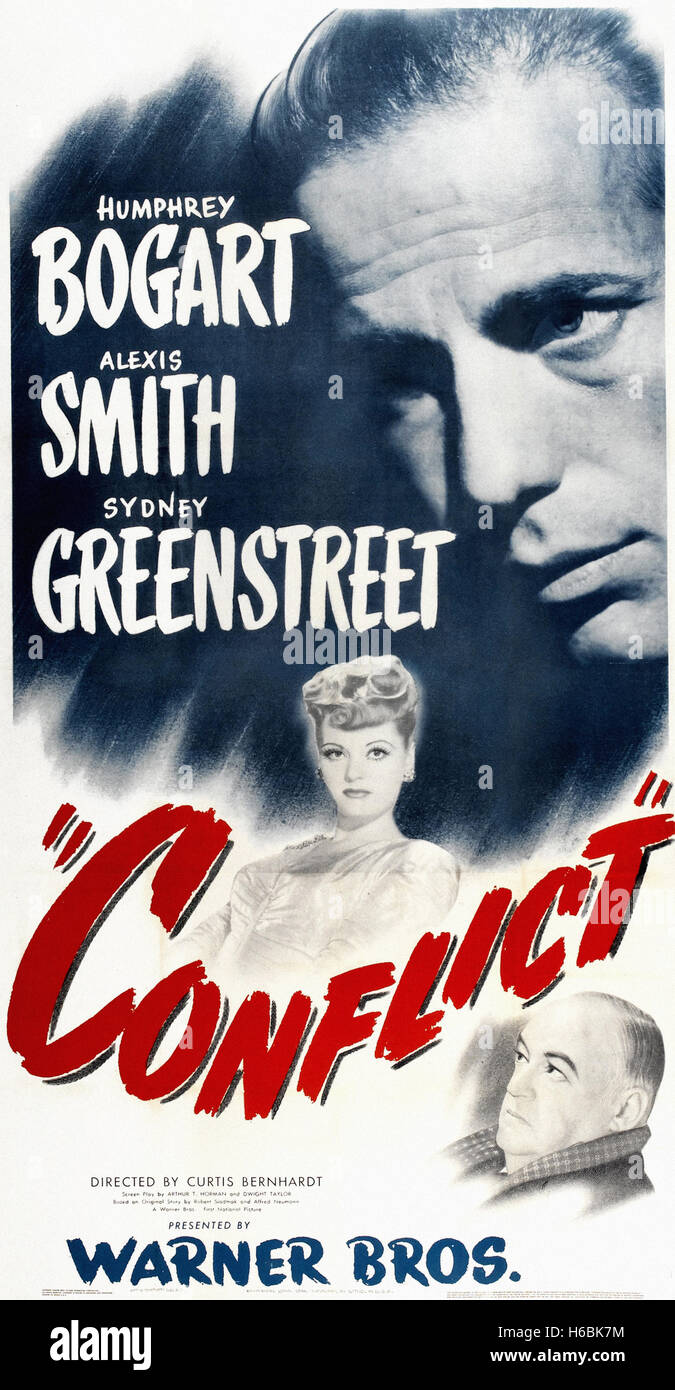 Conflict  - Movie Poster - - Stock Image