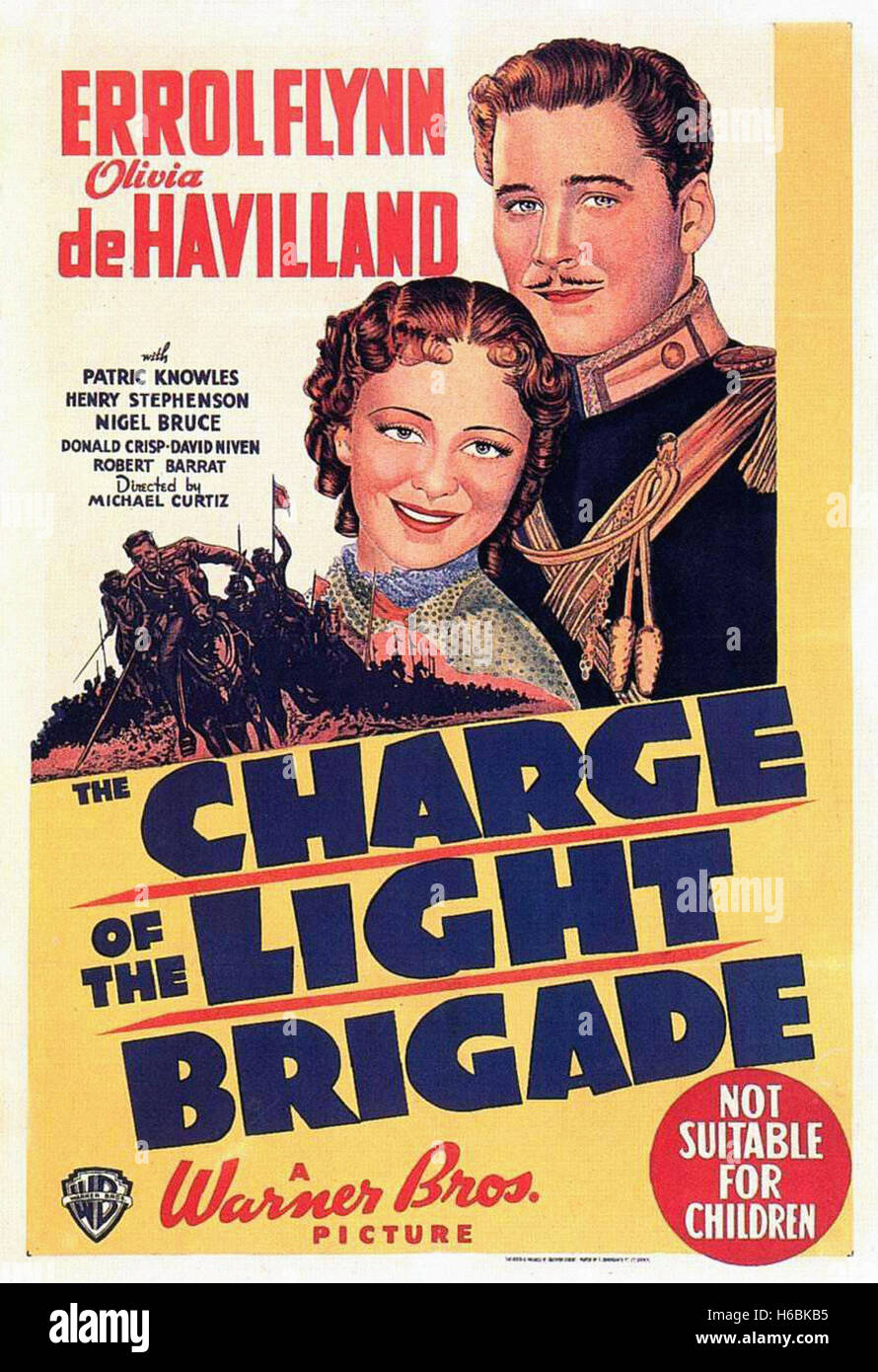The Charge of the Light Brigade (1936)  - Movie Poster - - Stock Image