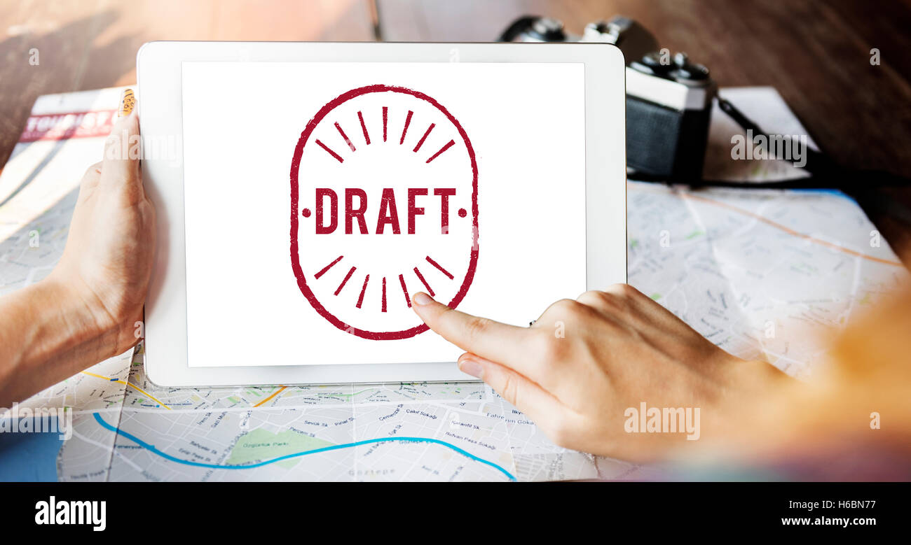 Draft Drawing Sketch Lineart Composition Graphic Concept - Stock Image