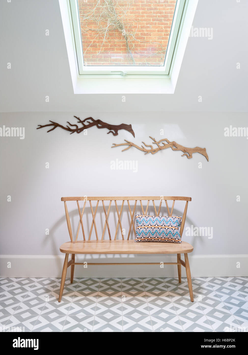 Awe Inspiring A Nordic Style Simple Bench Seat In A Small Atrium Lit By Uwap Interior Chair Design Uwaporg