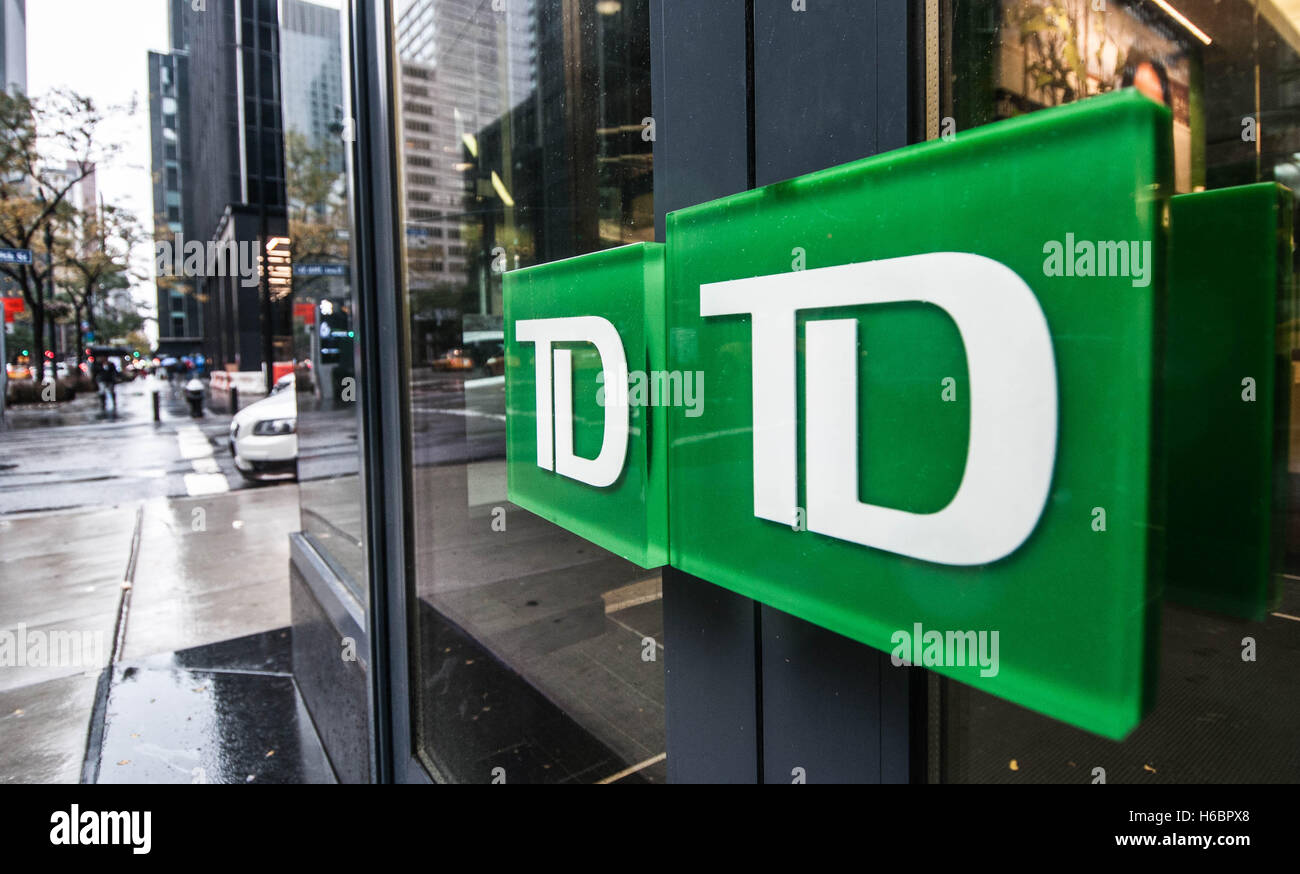 Door Handles On A Td Bank Branch In Manhattan New York City Usa