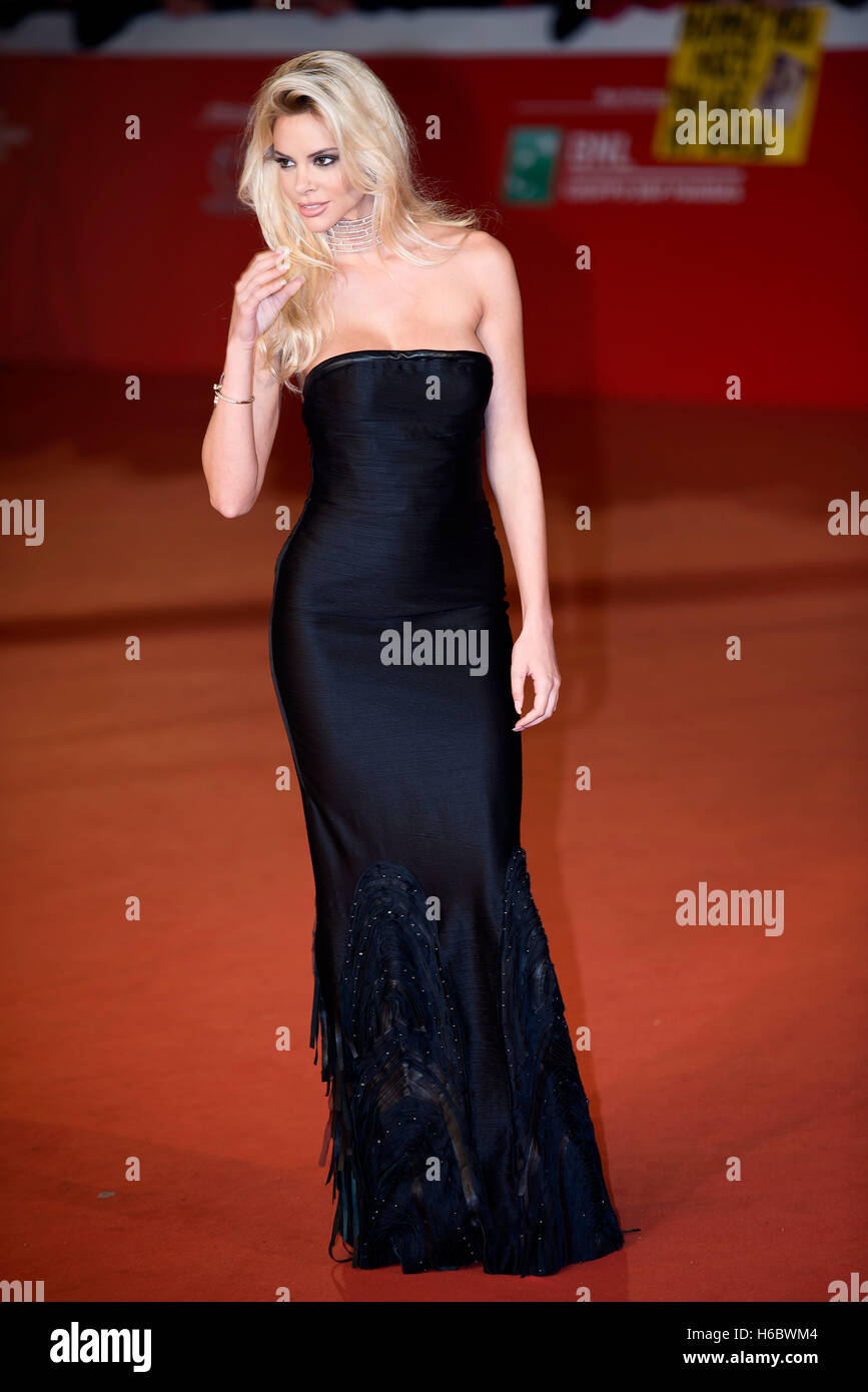 Ria Antoniou attends the red carpet during the Rome Film Festival 2016 - Stock Image