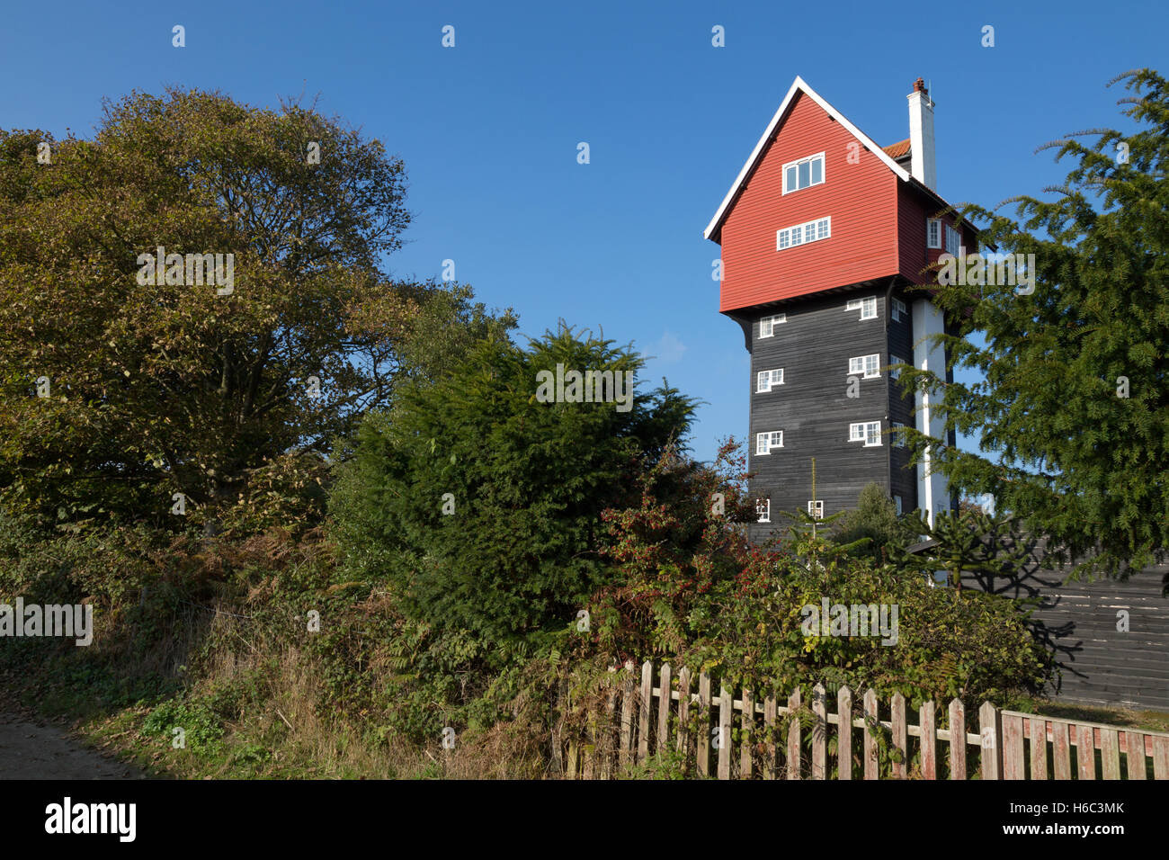 The House in the Clouds, a converted water tower, Thorpeness village, Suffolk England UK Stock Photo