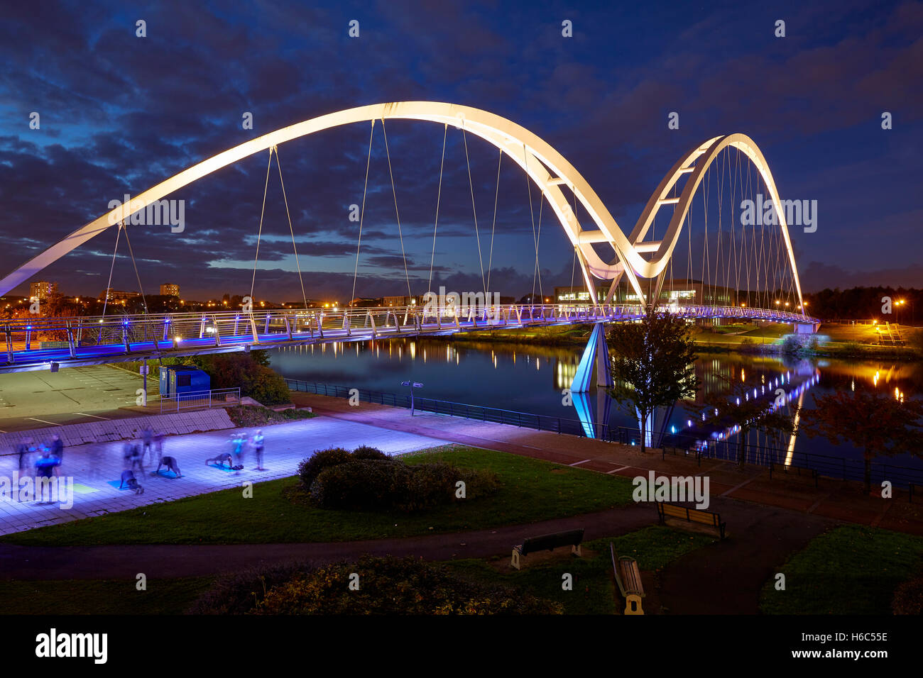 Infinity Bridge, Stockton on Tees UK Stock Photo
