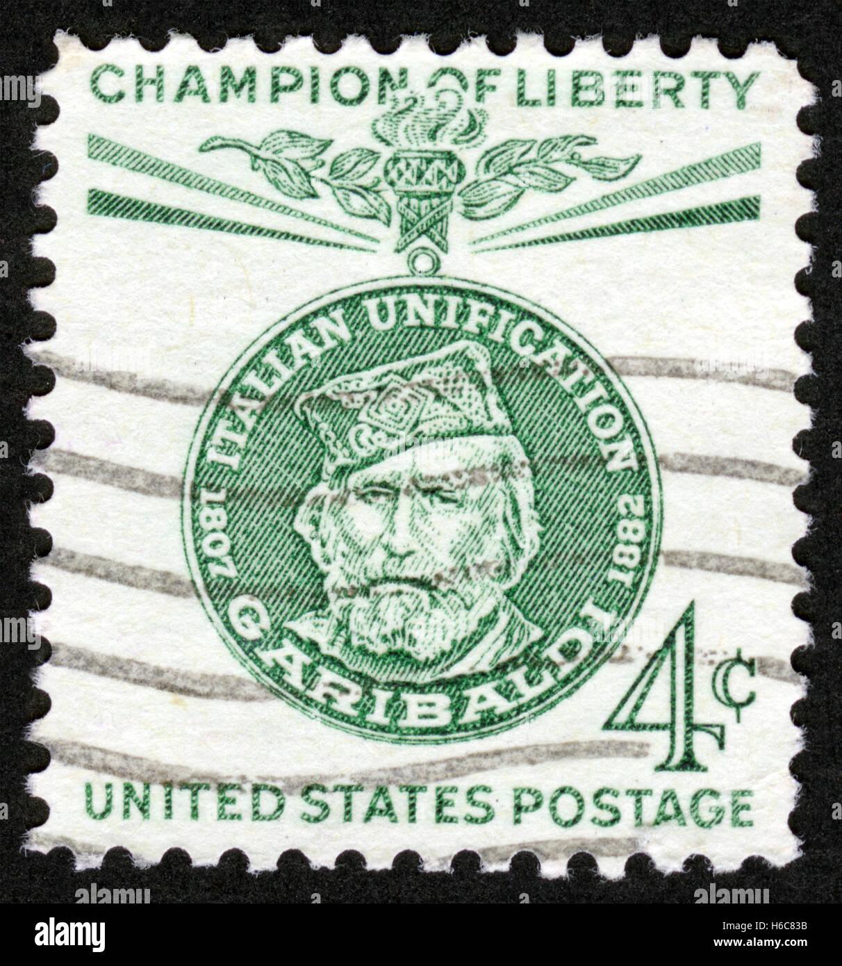 UScirca 1960 Postage Stamp Champion Liberty Garibaldi 1807 1882 Medal Italian Unification