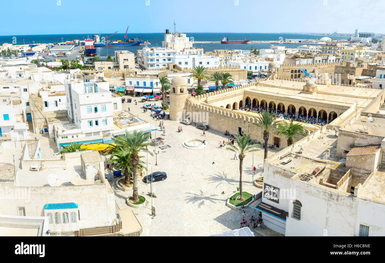 The Ribat citadel and Grand Mosque are the most notable landmarks of Medina Stock Photo