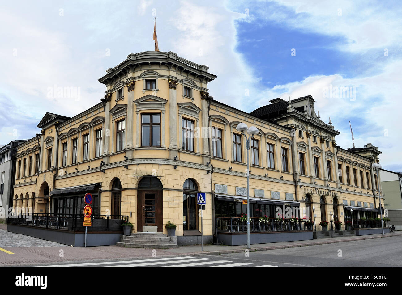 Pub Petrellin Saluuna was designed by architect Hugo Neuman, completed in 1884 - Stock Image