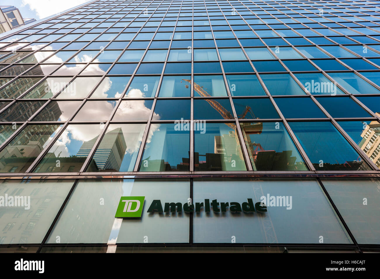 A TD Ameritrade Holding Corp. branch in New York on Monday, October 24, 2016. TD Ameritrade Holding will buy Scottrade - Stock Image