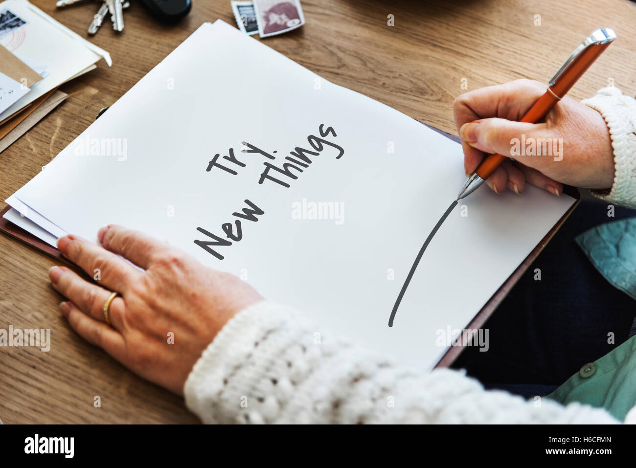 Try Now New Things Concept Stock Photo