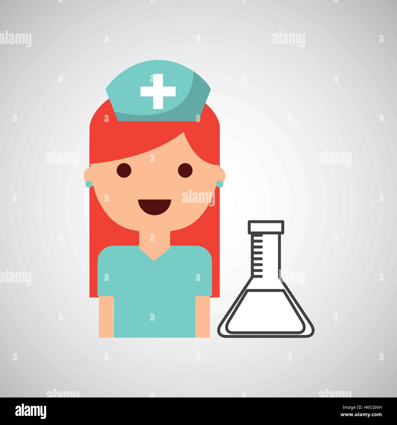 nurse character test tube science chemical esign Stock