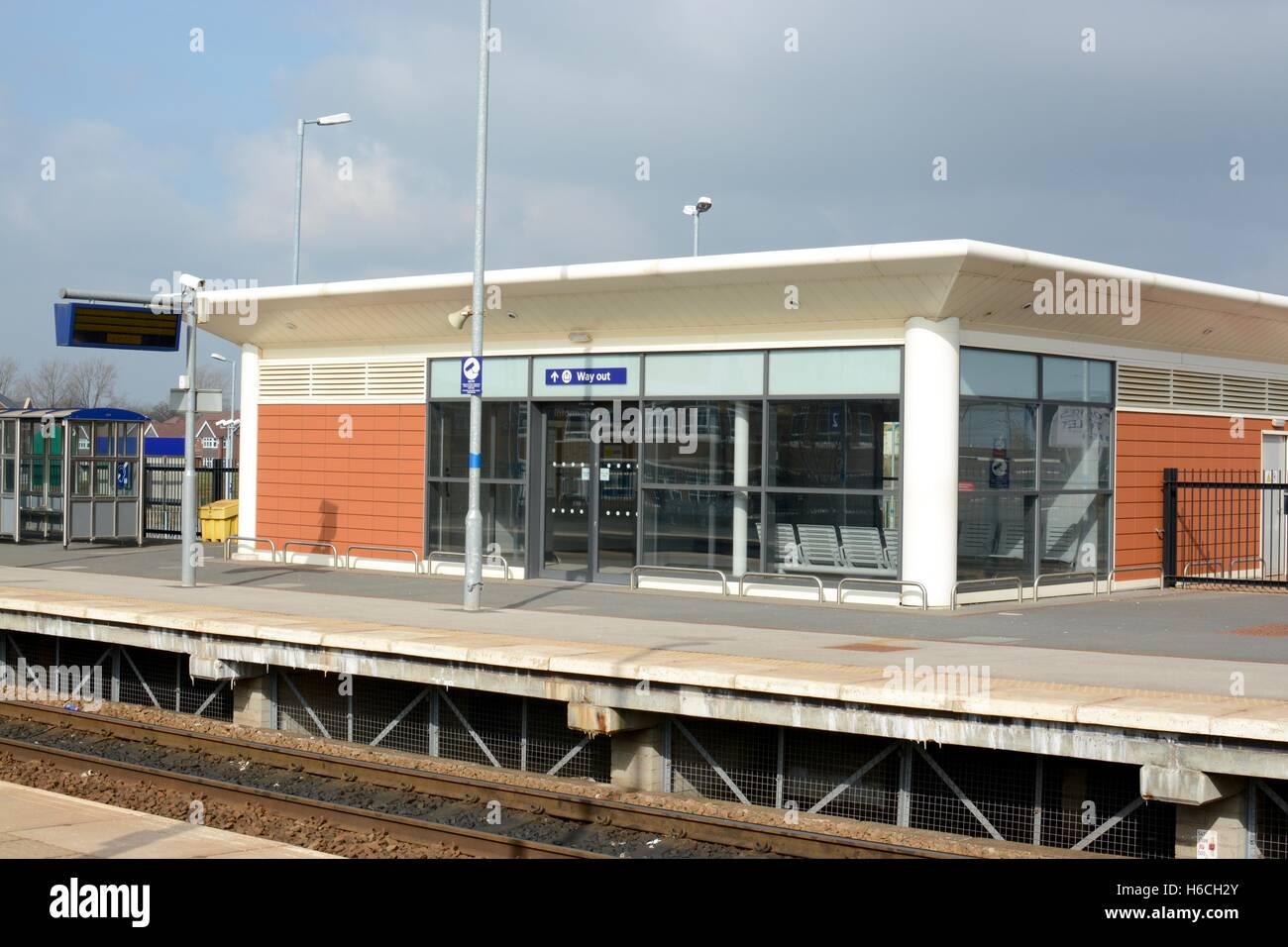 Buckshaw village railway station - Stock Image