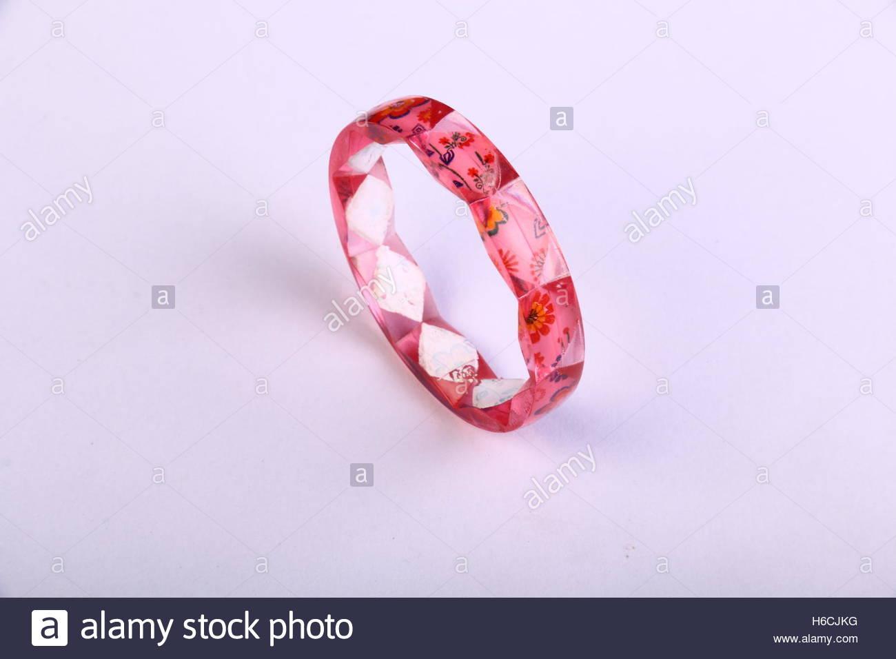 Plastic Bangle - Stock Image