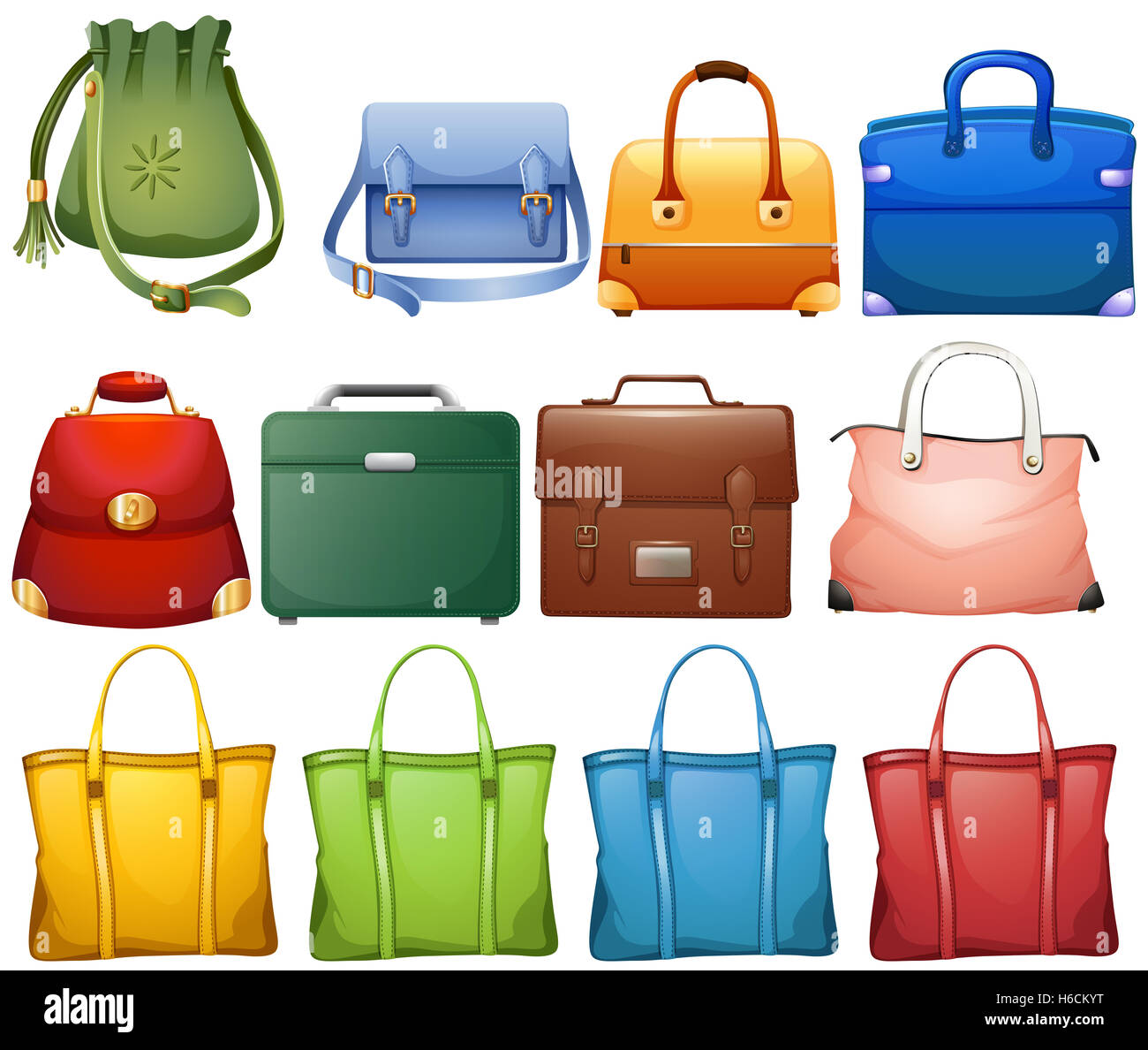 7fe4226b1f Different design of handbags illustration Stock Photo  124439612 - Alamy