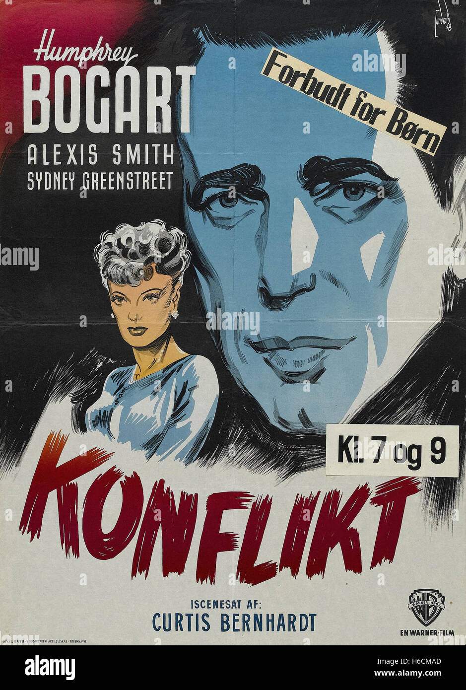 Conflict - German Movie Poster - - Stock Image