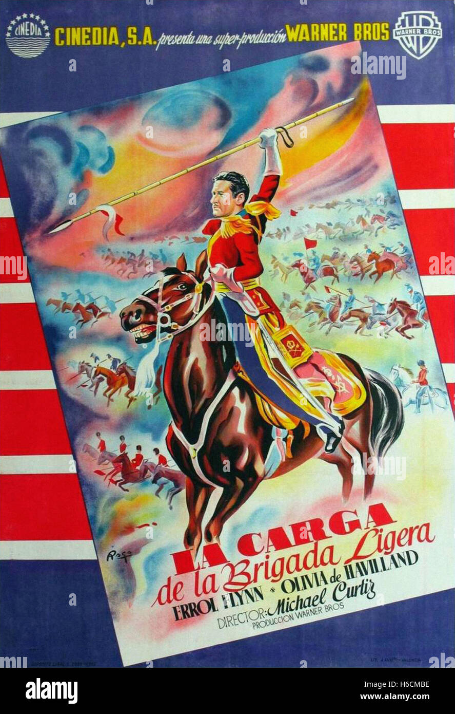 Charge of the Light Brigade, The (1936) - Spanish Movie Poster - - Stock Image