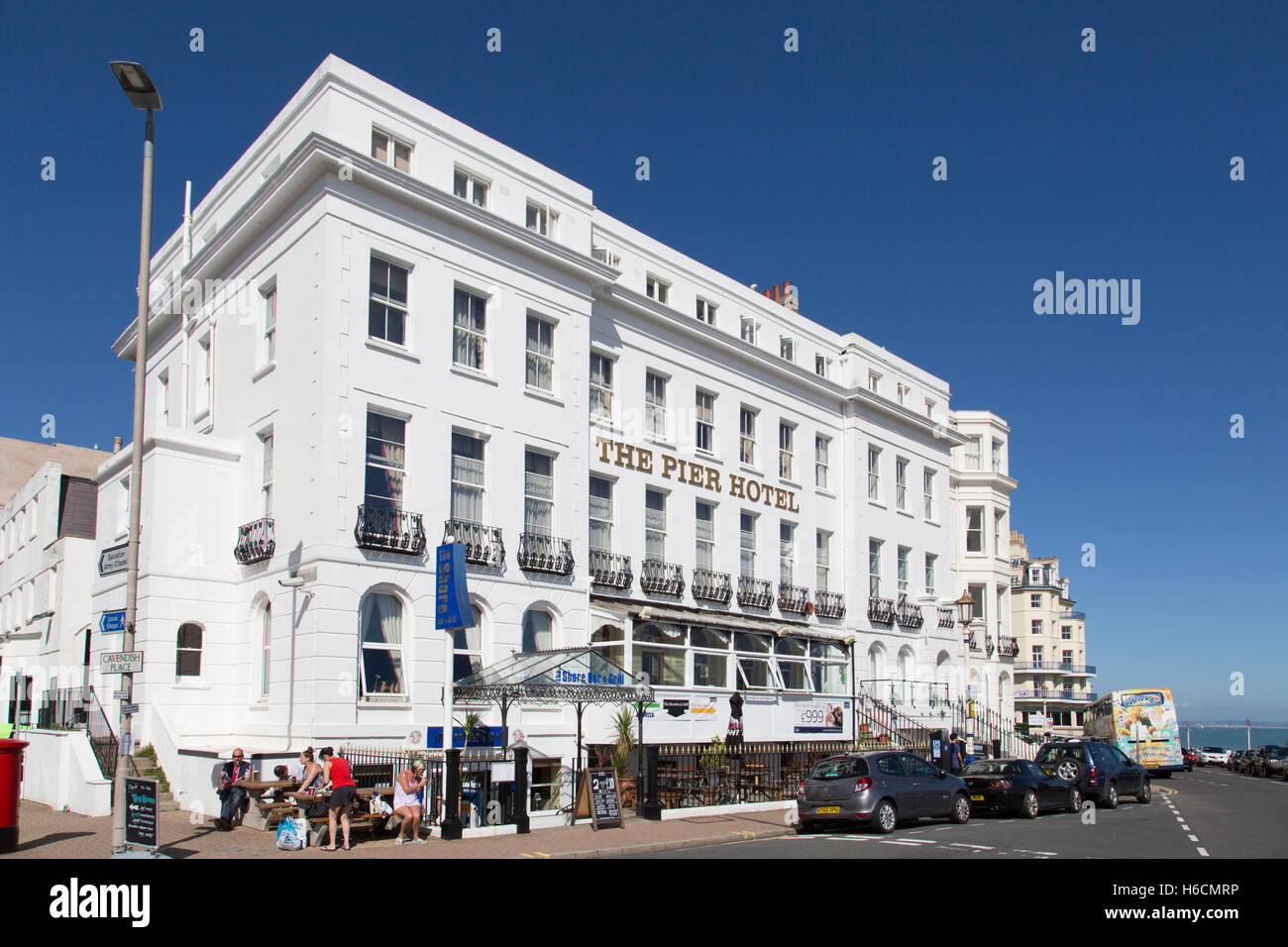 The Pier Hotel, Grand Parade, Eastbourne - Stock Image